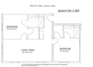 Alderman Oaks Floor Plan-Banyon 2-BR