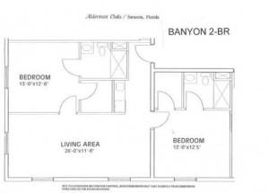 Alderman Oaks Floor Plan-Banyon 2-BR